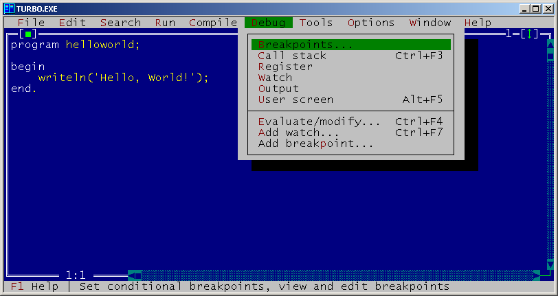 Full Turbo Pascal screenshot