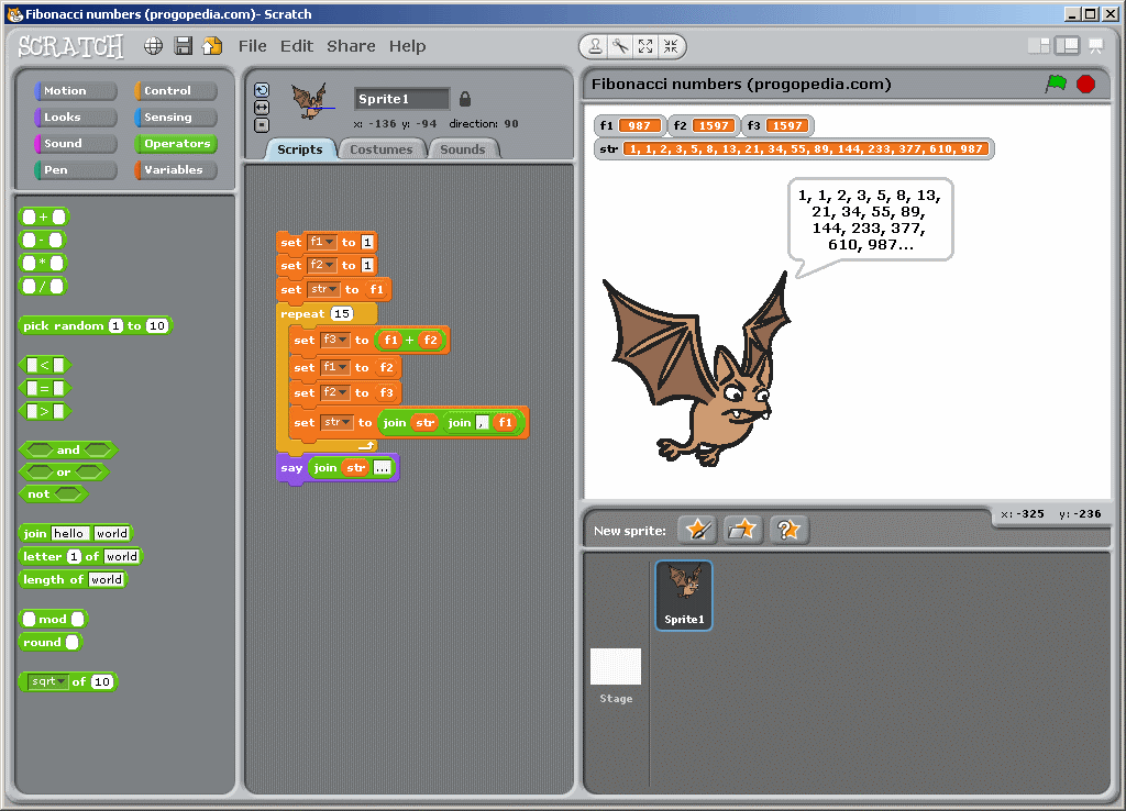 Scratch development environment