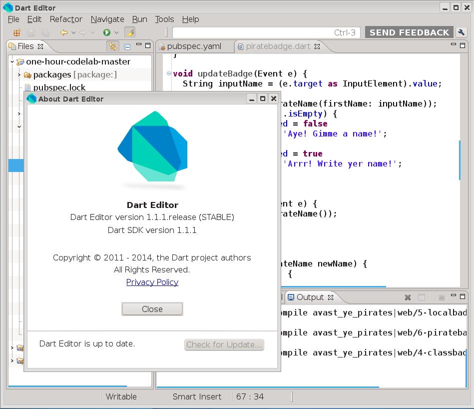 Dart Editor 1.1.1